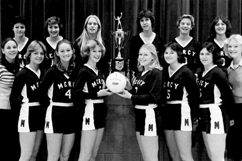 Mother of Mercy 1977 Volleyball Team